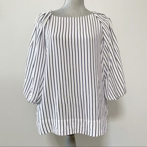 Massimo Dutti balloon sleeve striped top